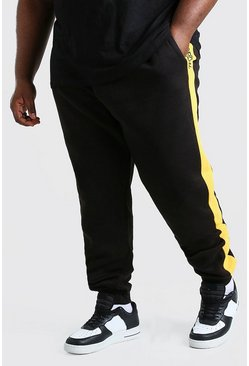 Black Plus Size MAN Official Panel Jogger