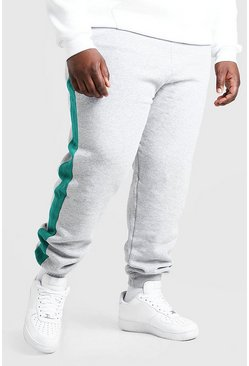 Grey marl grey Plus Size MAN Official Panel Jogger