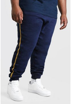 Navy Plus Size MAN Dash Jogger With Side Tape