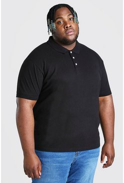 Black Plus Size Pique Polo