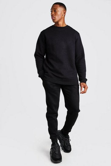 Black Skinny Fit Basic Joggers