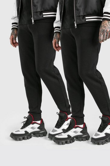 Black 2 Pack Basic Skinny Jogger