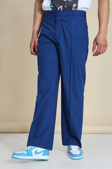 Cobalt blue Wide Leg Tailored Trouser