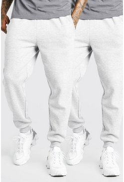 Grey marl 2 Pack Loose Fit Jogger