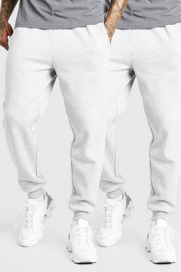 Grey marl grey 2 Pack Loose Fit Jogger