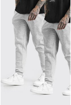 Grey marl grey 2 Pack Slim Fit Jogger