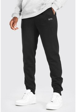 Black Loose Fit Original MAN Joggers
