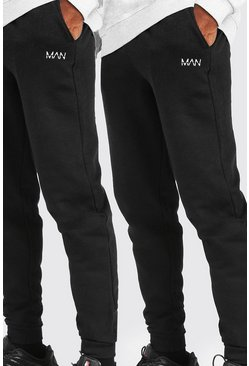 Black 2 Pack Loose Fit Original MAN Joggers