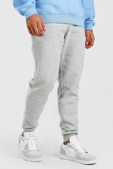 Grey Basic Slim Fit Joggers