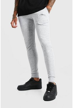 Grey grå Man Signature Super skinny jeans