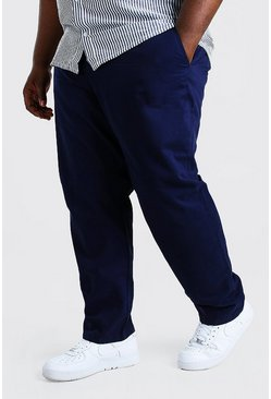 Pantalones chinos skinny Big And Tall, Azul marino