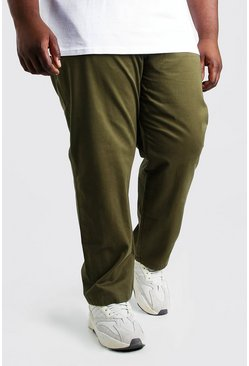 Kaki khaki Plusmaat skinny fit chino broek