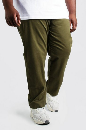 Khaki Plus Size Skinny Fit Chino Trouser