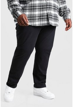 Black Plus Size Skinny Fit Chino Trouser