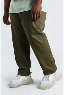 Khaki Plus Size Slim Fit Chino Trouser