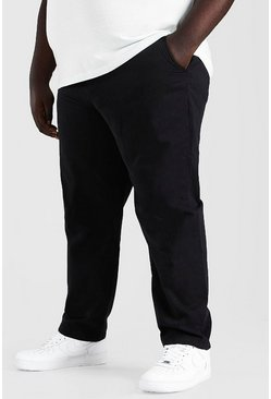 Big And Tall Slim-Fit Chinos, Schwarz