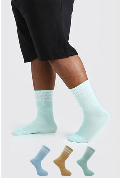 Multi 3 Pack Official MAN Pastel Sport Sock
