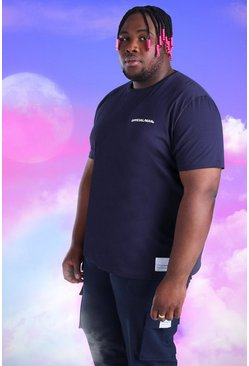 Navy Plus Size Official MAN T-Shirt