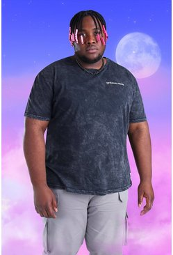 Black Plus Size Official MAN T-Shirt
