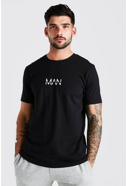 Black Original MAN Logo Print T-Shirt