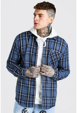 Blue Heavy Weight Check Overshirt