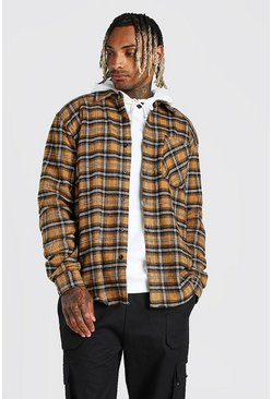 Mustard yellow Heavy Weight Check Overshirt