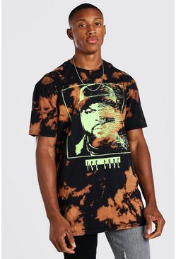 Black Oversized Ice Cube Tie Dye License T-Shirt