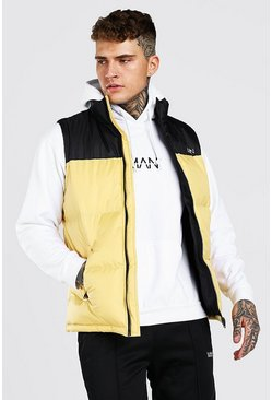 Yellow Man Dash Colour Block Bodywarmer