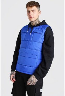 Blue MAN Branded Padded Utility Gilet