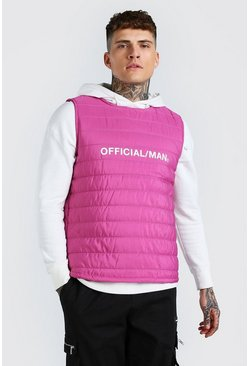 Pink MAN Official Padded Gilet