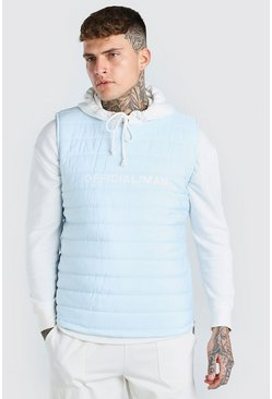 Mint green MAN Official Padded Gilet