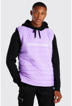 Lilac purple MAN Official Padded Gilet