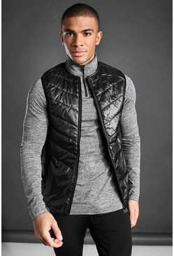 Black MAN Padded Gilet