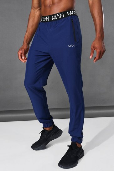 Navy Man Active Tapered Jogger With Man Waistband