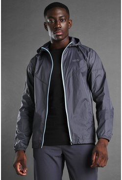 Grey MAN Active Windbreaker