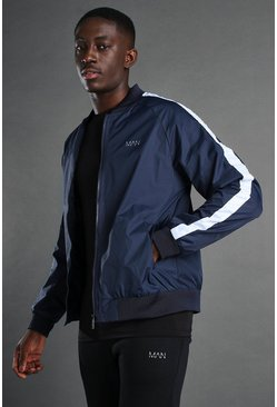 Blue MAN Active Zip Through Bomber Jacket