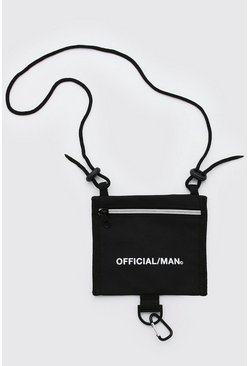 Black MAN Official Cross Body Pouch