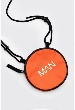 Orange MAN Dash Round Lanyard Bag