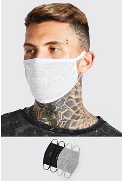 4 Pack Multi MAN Dash Fashion Masks