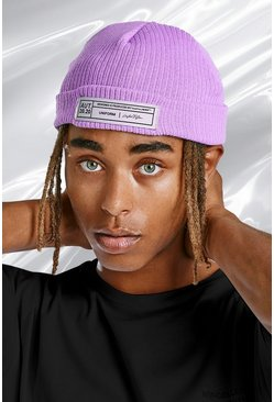 Pink Micro Fit Beanie Hat With Woven Branded Tab