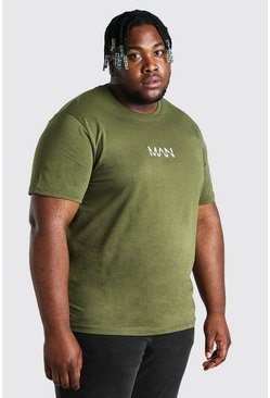Khaki Big And Tall MAN Dash T-Shirt