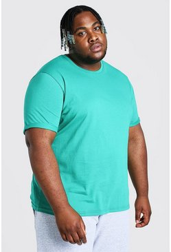 Green Plus Size T-Shirt With Rolled Sleeves