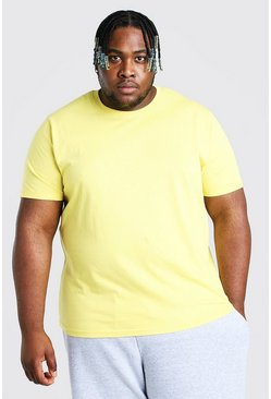 Yellow Plus Size T-Shirt With Rolled Sleeves