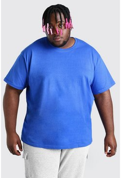 Cobalt blue Big And Tall Loose Fit T-Shirt