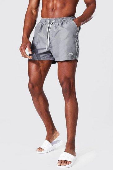 Grey Recycled Original Man Short Length Swim Short