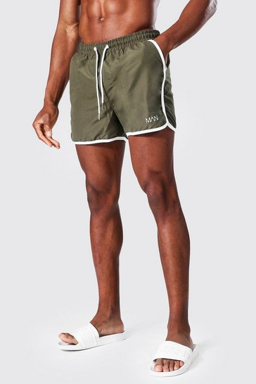 Khaki Recycled Original Man Runner Swim Short