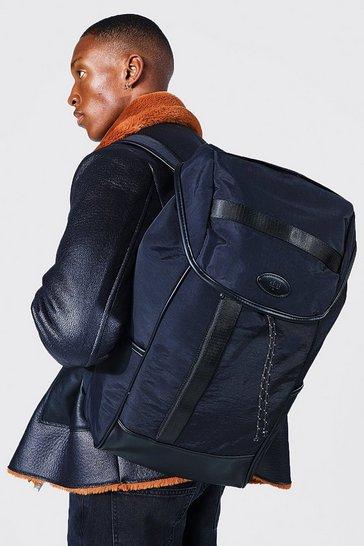 Black Smart Nylon Rucksack