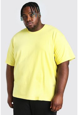 Yellow Big And Tall Loose Fit T-Shirt