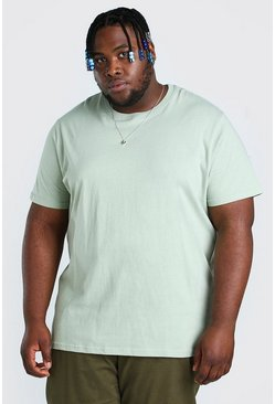 T-shirt Big And Tall taglio rilassato, Salvia gerde