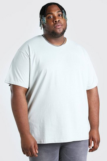 Silver Plus Size Loose Fit T-Shirt